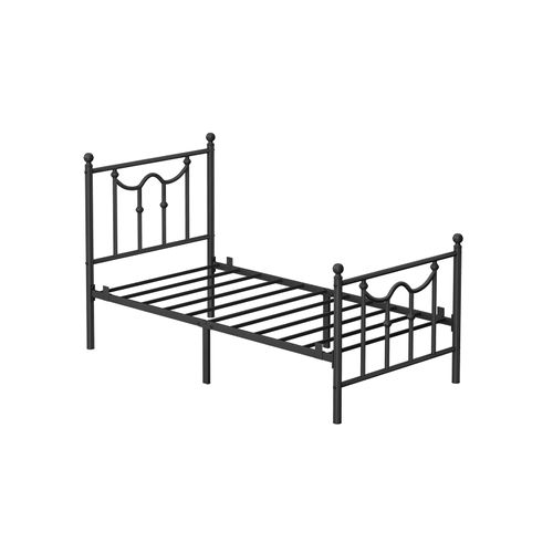 Twin Size Metal Bed Frame Black