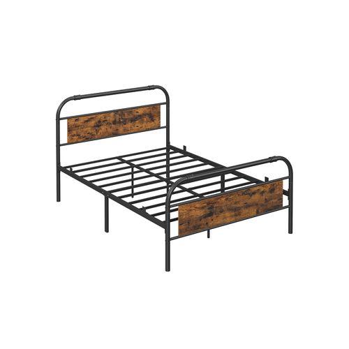 Vasagle Queen Size Metal Bed Frame With, Queen Metal Bed Frame With Headboard No Footboard