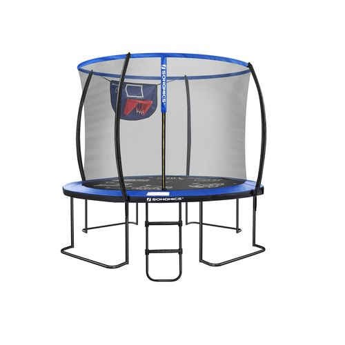 12FT Blue and Black Outdoor Trampoline