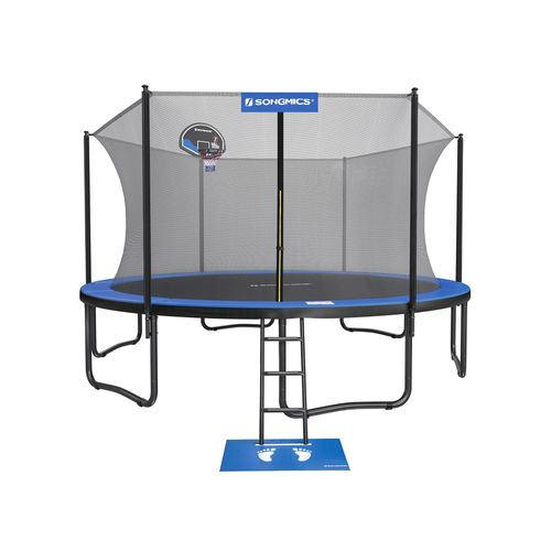 15-Foot Trampoline with Enclosure for Kids
