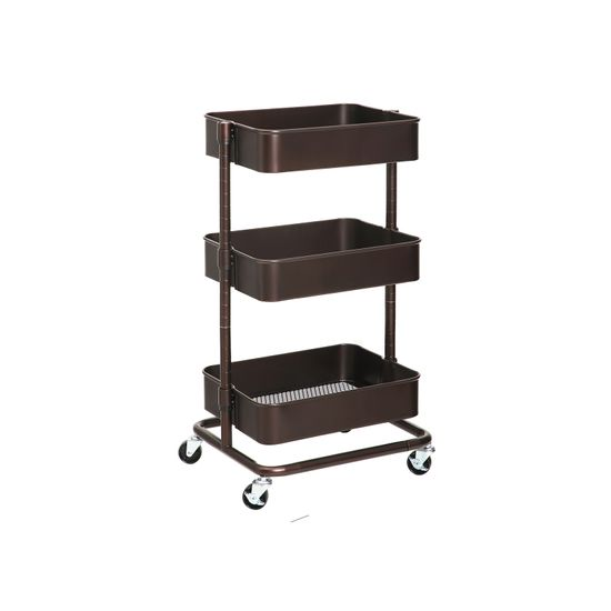 Bronze Metal Rolling Cart