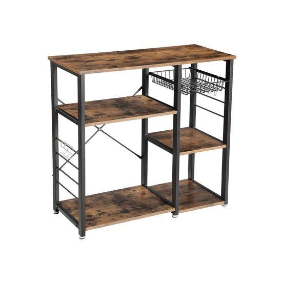 Metal Frame Kitchen Shelf