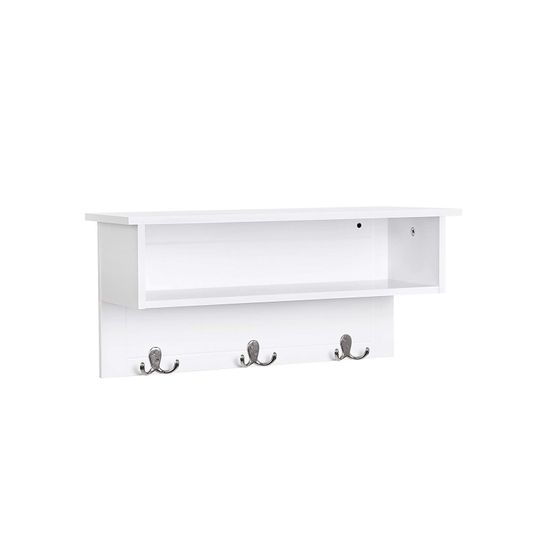 Double Hooks Hanging Shelf