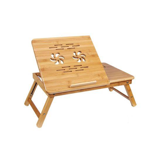 Bamboo Storage Laptop Desk
