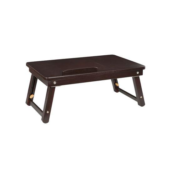 Dark Bamboo Laptop Desk