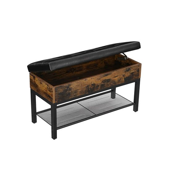 Storage Box Padded Bench
