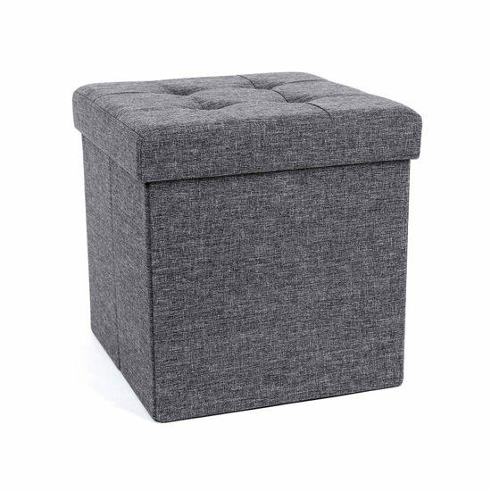 Dark Grey Folding Ottoman