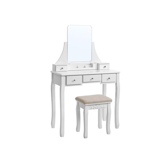 Frameless Mirror Vanity Set