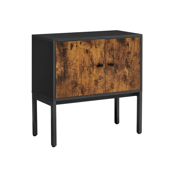 Buffet Cabinet Rustic Brown and Black