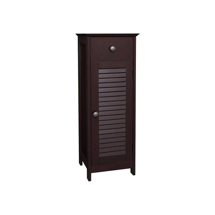 Brown Shutter Door Cabinet