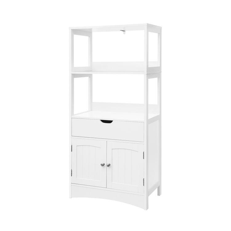 Upper Shelves Bathroom Cabinet
