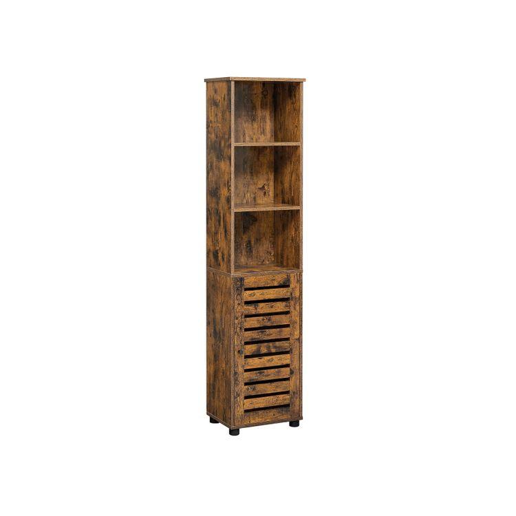 Bathroom Tall Cabinet Rustic Brown