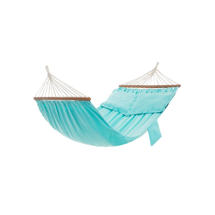 Double Hammock with 2 Pillows Turquoise