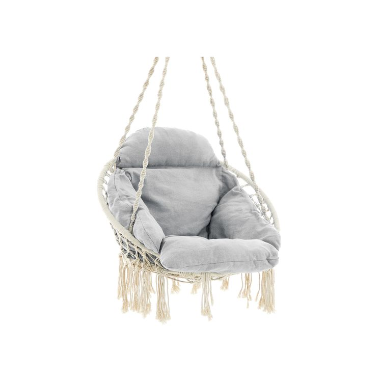 Hanging Chair Cloud White and Gray