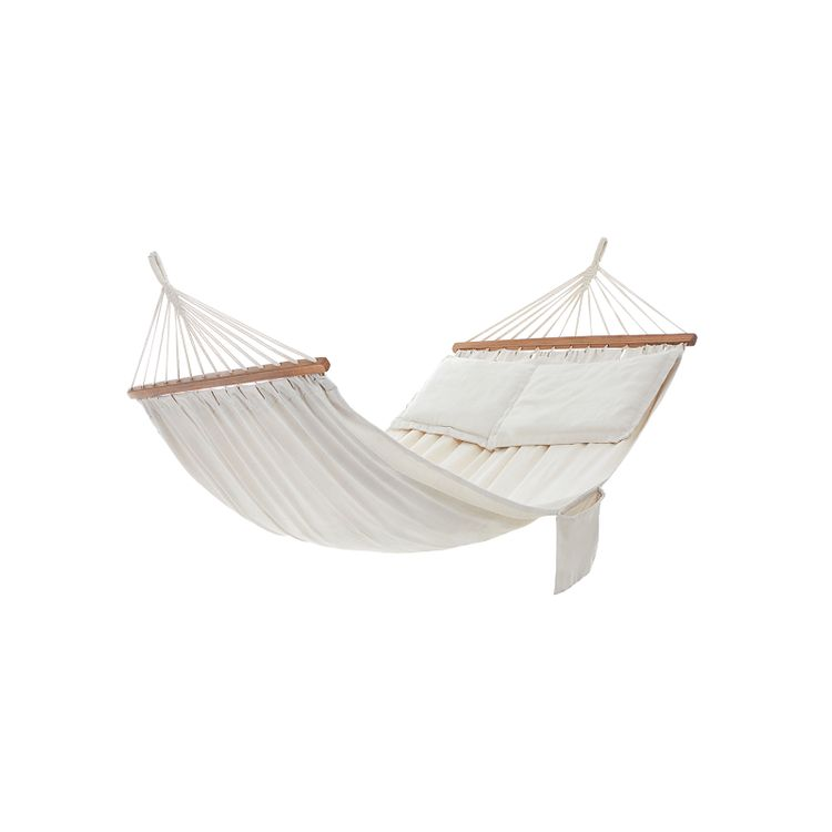 Double Hammock with 2 Pillows Beige