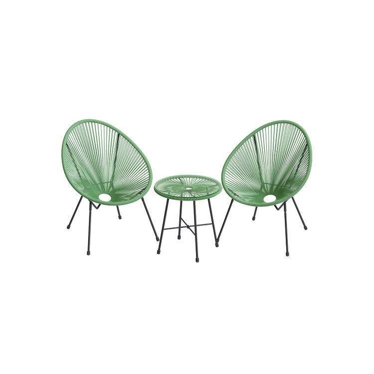 Light Green 3-Piece Outdoor Acapulco Chair
