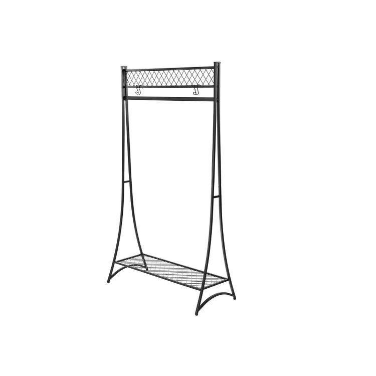 Grid Shelf Garment Rack