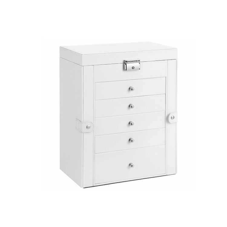 6-Tier Large Jewelry Case with Drawers