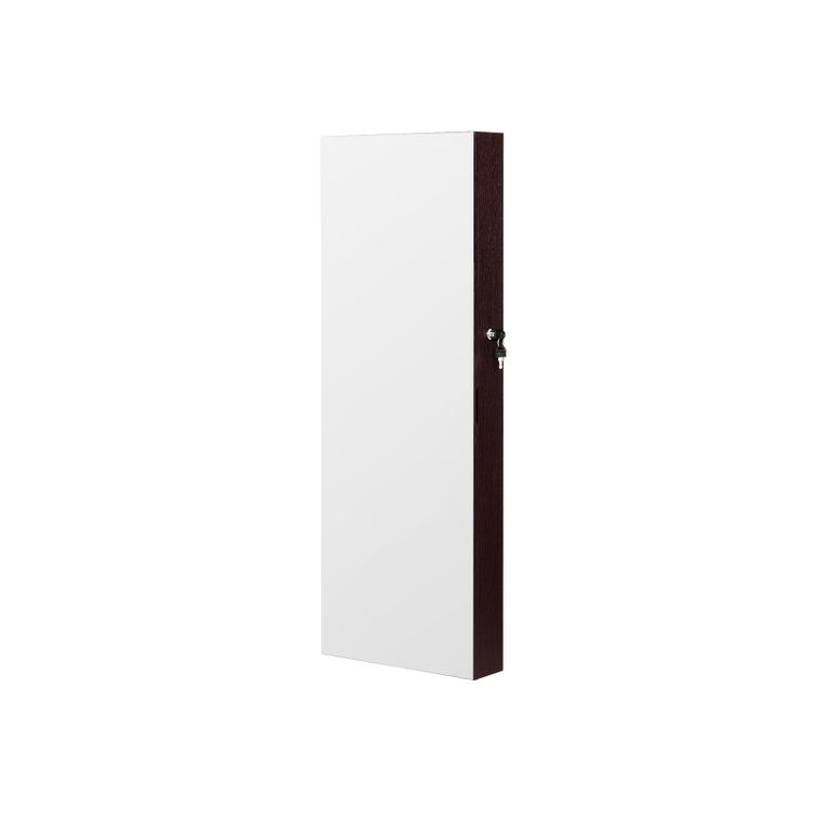 Mirror Jewelry Cabinet Armoire Brown