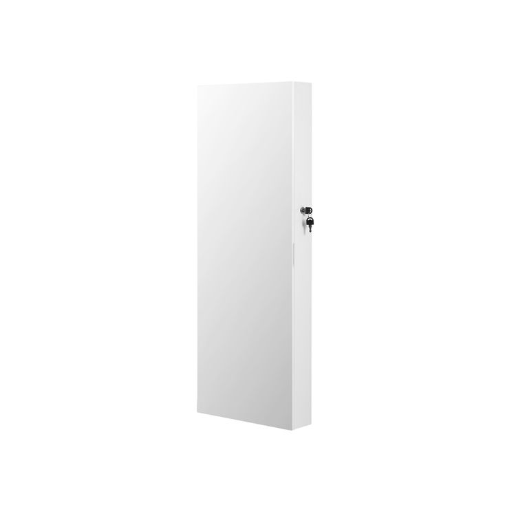 Mirror Jewelry Cabinet Armoire White