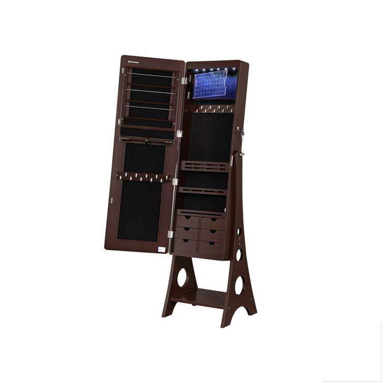 Adjustable Light Jewelry Cabinet