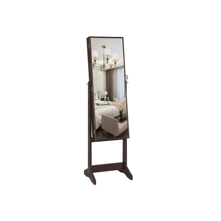 Large Mirror Jewelry Armoire