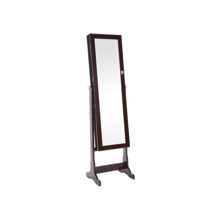 Brown Standing Jewelry Armoire
