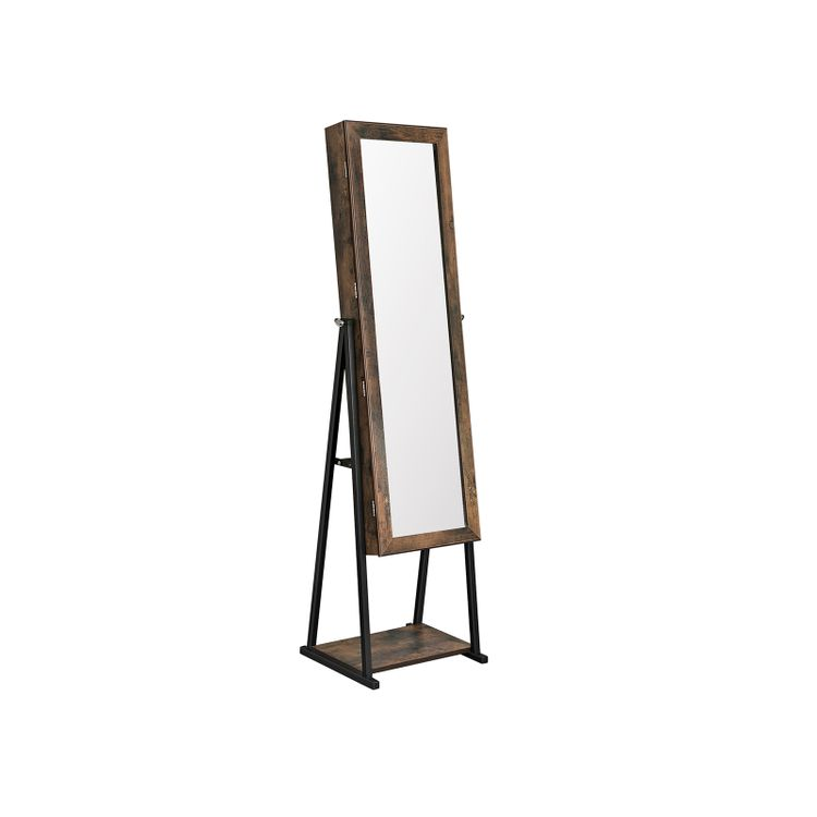 Industrial Mirror Jewelry Cabinet Armoire