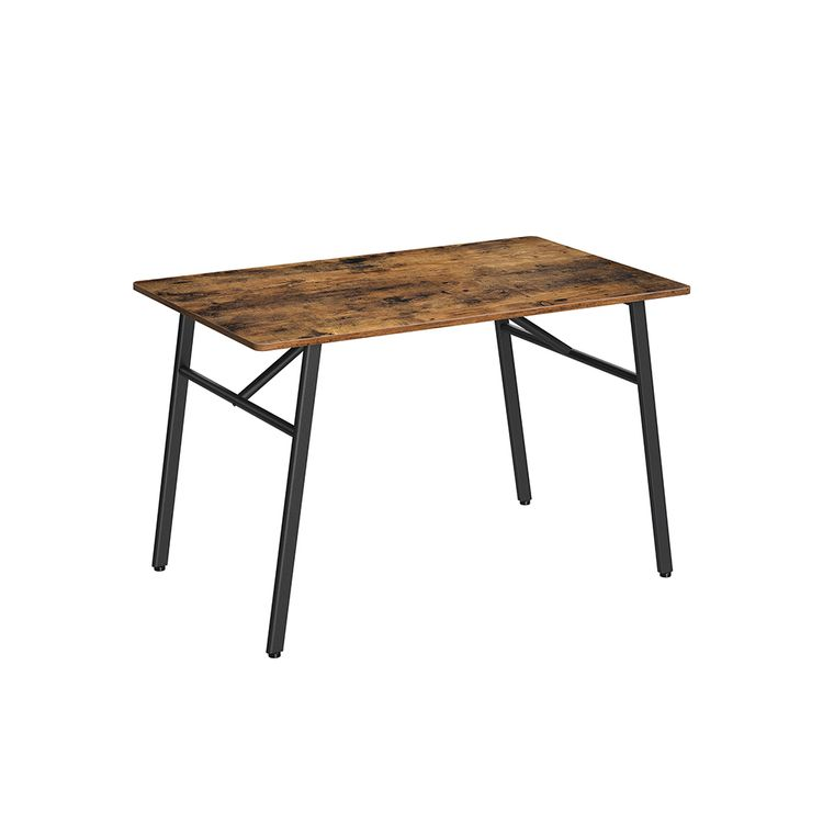 Industrial Brown Dining Table for 4 People