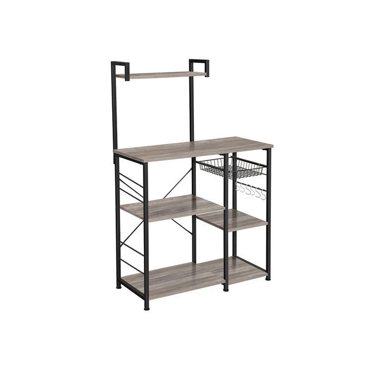 Kitchen Shelf with Wire Basket