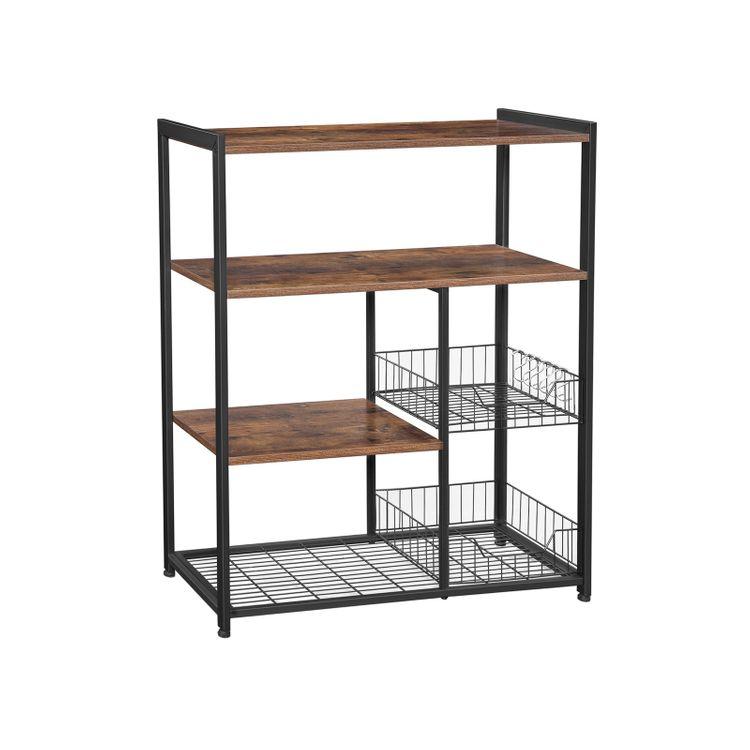 Mesh Baskets Kitchen Shelf