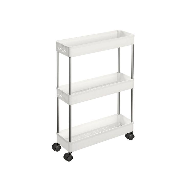 3-Tier Storage Trolley White