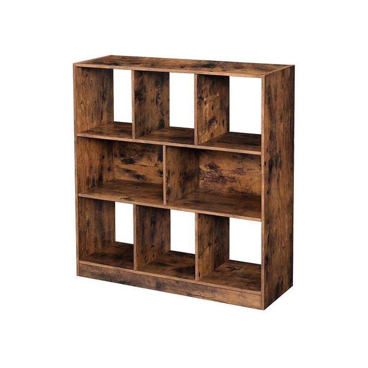 8-Compartment Bookshelf