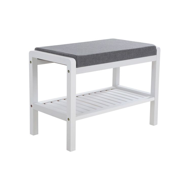 Cushion Upholstered Shoe Bench
