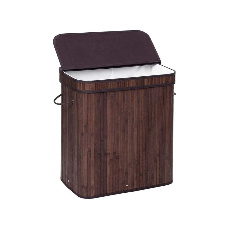 Brown Bamboo Laundry Basket