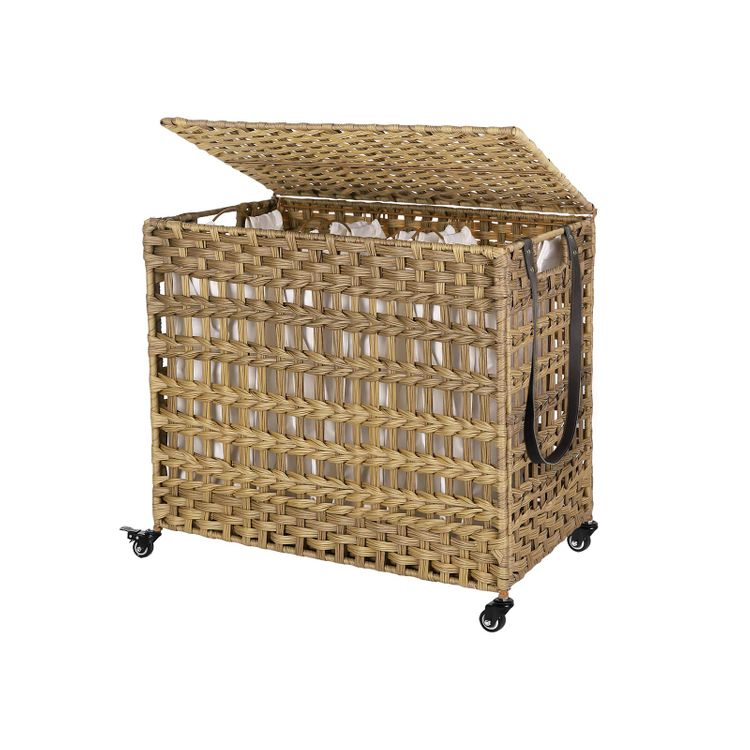 Laundry Basket With 3 Compartments