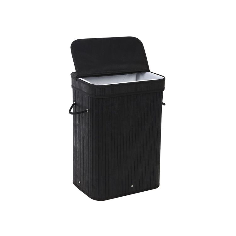 Bamboo Black Laundry Hamper