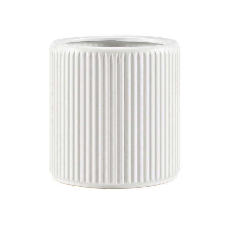 Ceramic Flower Pot White