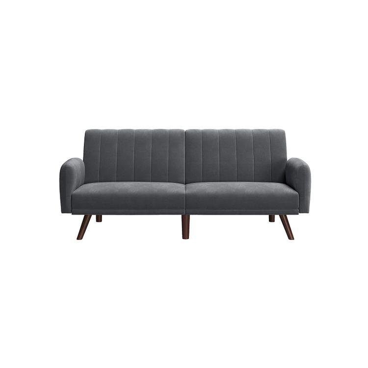 Gray Split Back Sofa for 2 People