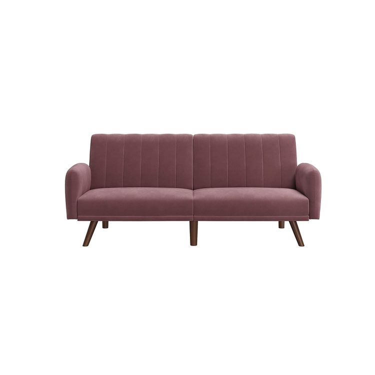 Pink Sofa with Split Back for 2 People
