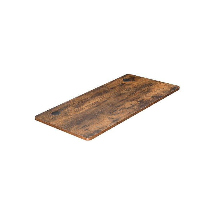 Electric Computer Desk Table Top Rustic Brown