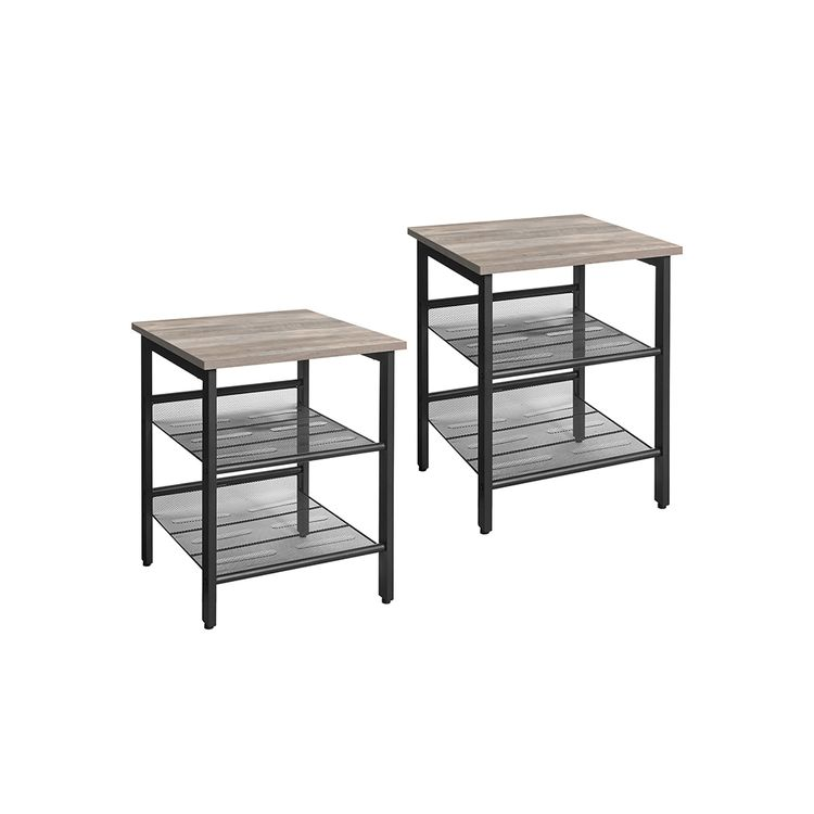 Steel Frame Nightstand Set