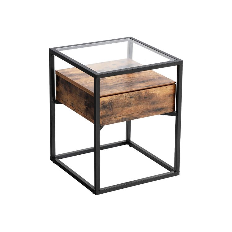 Tempered Glass End Table