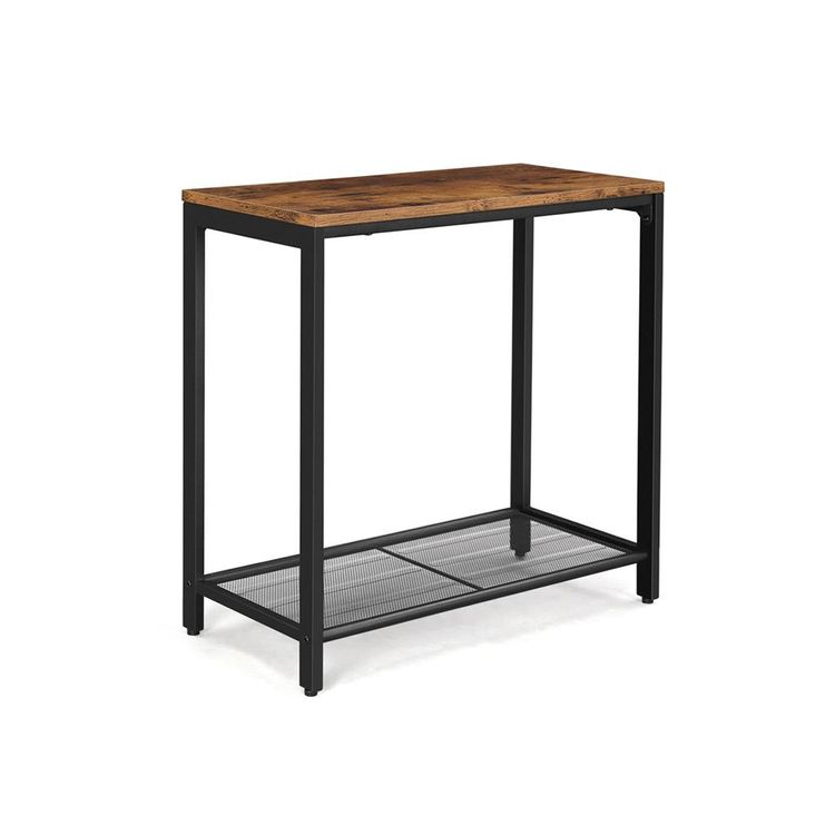 Mesh Shelf End Table
