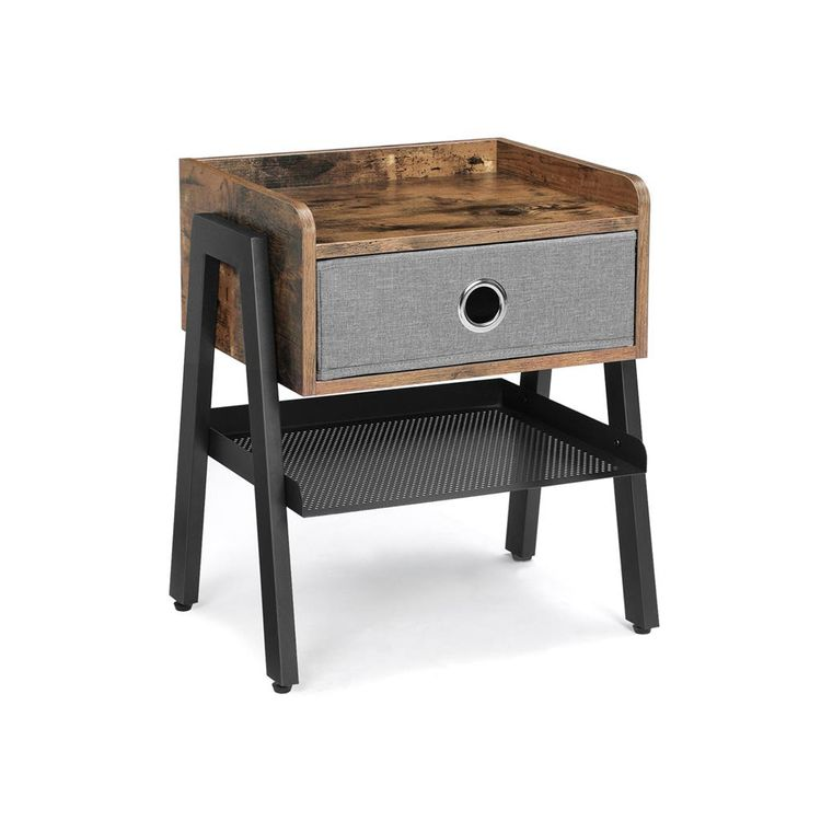 Fabric Drawer End Table
