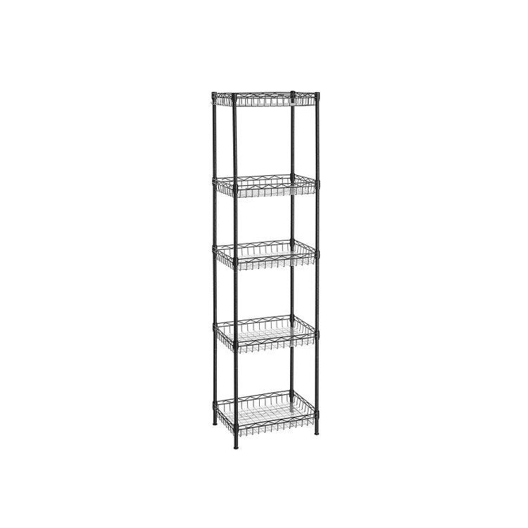 Black Metal Storage Rack Unit for Kitchen