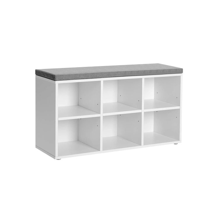 6 Compartments Shoe Bench