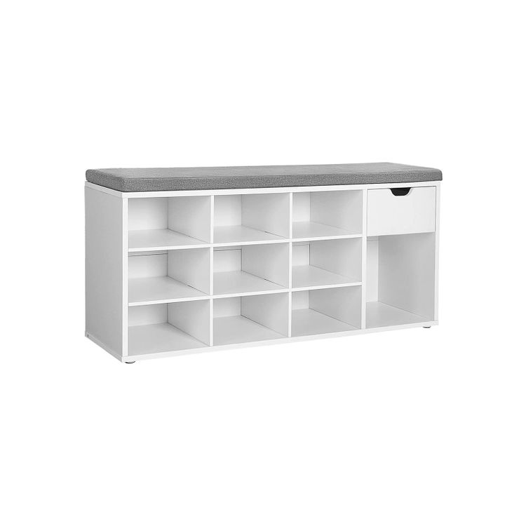 Open Compartments Shoe Bench
