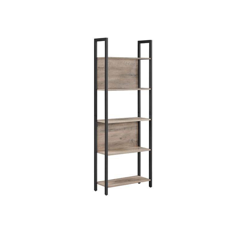 Steel Frame 5-Tier Bookshelf