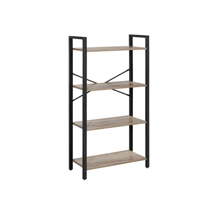 4-Tier Bookcase with Steel Frame